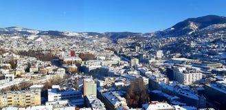Scena di inverno di Sarajevo fotografie stock