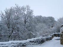 Scena di inverno sul canale Fotografia Stock Libera da Diritti