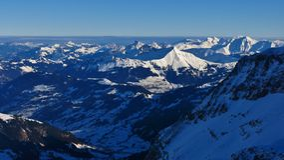 Scena di inverno in Svizzera Vista dal ghiacciaio di Diablerets S Fotografia Stock Libera da Diritti
