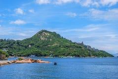 Scena di lungomare di Stanley, Hong Kong immagine stock
