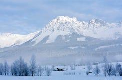Scena di mattina in montagne Fotografia Stock Libera da Diritti