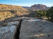 Scena di MESA dell'Utah, vicino al San Rafael Swell Fotografia Stock
