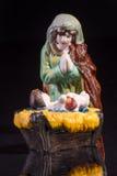 Scena di Natale con Gesù e Maria Fotografie Stock Libere da Diritti