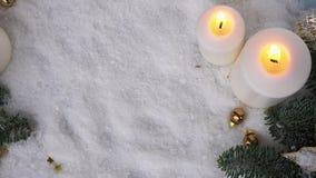 Scena di Natale con neve archivi video