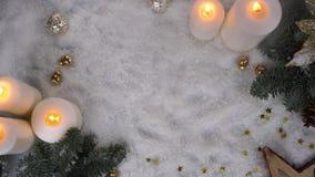 Scena di Natale con neve stock footage