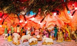Scena di Natale di Betlemme Immagini Stock Libere da Diritti