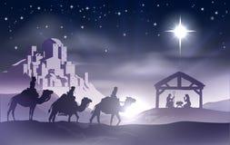 Scena di Natale di natività royalty illustrazione gratis