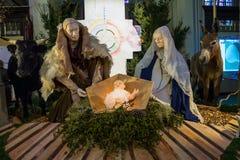 Scena di Natale nella cattedrale la città olandese Den Bosch Fotografie Stock