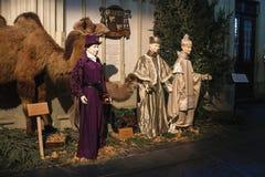 Scena di Natale nella cattedrale la città olandese di Den Bosch Immagini Stock