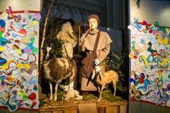 Scena di Natale nella cattedrale la città olandese di Den Bosch Fotografie Stock Libere da Diritti