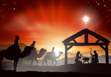 Scena di natività di Natale Fotografia Stock