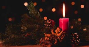 Scena di natività di Natale del bambino Gesù archivi video