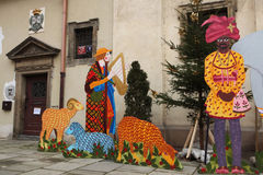 Scena di natività a Praga, repubblica Ceca Fotografia Stock