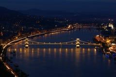 Scena di notte a Budapest Fotografia Stock