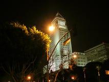 Scena di notte del comune di Los Angeles Immagini Stock