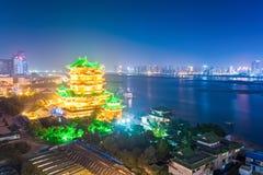 Scena di notte del padiglione del tengwang a Nan-Chang Immagini Stock