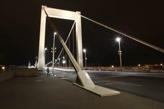 Scena di notte del ponte a Budapest Immagini Stock