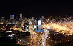 Scena di notte della città immagini stock