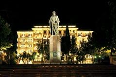 Scena di notte della città a Bacu Azerbaijan Fotografie Stock Libere da Diritti