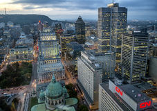 Scena di notte della città di Montreal Immagine Stock Libera da Diritti