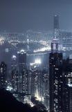Scena di notte della città Fotografie Stock