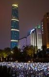 Scena di notte della città di Guangzhou Fotografia Stock Libera da Diritti