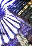 Scena di notte della cupola del platz del potsdamer di Berlino immagini stock libere da diritti