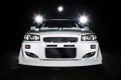 Scena di notte della macchina da corsa Fotografia Stock