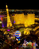 Scena di notte della striscia di Las Vegas fotografia stock libera da diritti