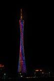 Scena di notte della torre di Canton TV Immagini Stock Libere da Diritti