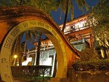 Scena di notte della torretta di Tainan Chihkan Immagini Stock