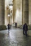 Scena di notte della via del ciottolo, Roma Fotografia Stock Libera da Diritti