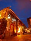 Scena di notte della via di arte di Hai-an a Tainan, Taiwan Immagini Stock