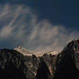Scena di notte delle alpi Fotografie Stock Libere da Diritti