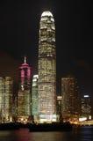 Scena di notte delle costruzioni fotografie stock