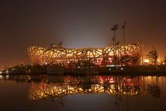 Scena di notte dello stadio nazionale, Cina Immagine Stock