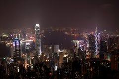 Scena di notte di Hong Kong Fotografie Stock Libere da Diritti