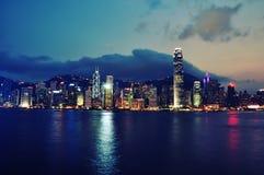 Scena di notte di Hong Kong Fotografia Stock Libera da Diritti