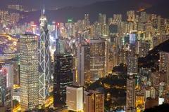 Scena di notte di Hong Kong Immagini Stock
