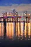 Scena di notte di Miami Fotografia Stock Libera da Diritti