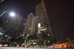 Scena di notte di Miami, Florida Fotografia Stock Libera da Diritti