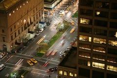 Scena di notte di New York City Fotografia Stock Libera da Diritti