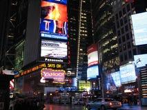 Scena di notte di New York City Fotografie Stock Libere da Diritti