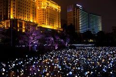 Scena di notte di nuova città di Zhujiang Fotografia Stock