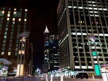 Scena di notte di Raleigh del centro, NC Immagine Stock Libera da Diritti