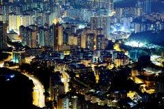 Scena di notte di residenziale ad alta densità Immagini Stock