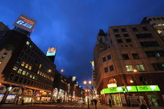 Scena di notte di Susukino (il distretto di spettacolo di Sapporo) Fotografia Stock
