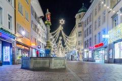 Scena di notte di Winterthur Fotografia Stock Libera da Diritti