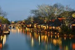 Scena di notte di Wuzhen Fotografia Stock Libera da Diritti