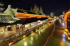 Scena di notte di Wuzhen Fotografie Stock Libere da Diritti